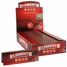 25x Packs Element Red 1.25 ( 50 Leaves Papers Each Pack ) Rolling 1 1/4 FULL BOX