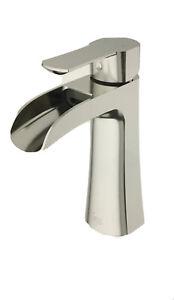 VIGO Paloma Single Hole Single Handle Bathroom Faucet in Brushed Nickel #98