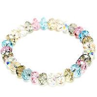 Neu Damen Kristall Faceted Loose beads Armband Stretch Bangle Schmuck