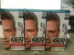 Lot Of 3 JUST FOR MEN AutoStop Comb-In Hair color Dark Blond A-15 Natural Look