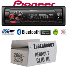 Pioneer Radio for Renault Clio 3 Bluetooth Spotify MP3 USB Android Einbauset Car