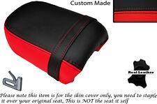 Negro & Rojo Brillante Personalizada Fits Yamaha Virago Xv 250 Trasera de piel cubierta de asiento