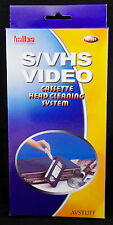 VHS SVHS VIDEO CASSETTE RECORDER VCR HEAD CLEANING CLEANER TAPE WET SYSTEM