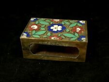 Antique Chinese Cloisonne Match Box Cover