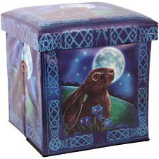 Stunning Lisa Parker's Moon Gazing Hare Storage Box Stool 39x37x37 FREE POSTAGE