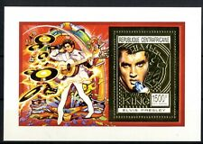 Elvis Presley The King sellos Centroafrica Centroafricane serie oro stamps music