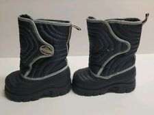 Stride Rite Boys Size 6M Navy/Orange/Gray Winter Thermolite Snow Boots