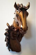 Horse Head 3D Wall Sculpture Bronze Equestrian Wall Art Hanging Home Decor