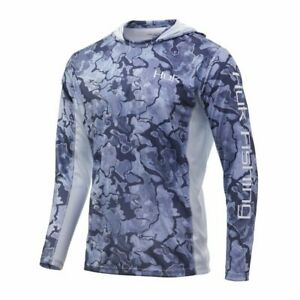 HUK Icon X Camo Hoodie-Fishing Shirt--Pick Color/Size-Free Shipping
