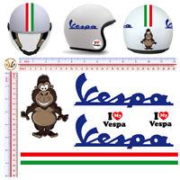 I love Vespa adesivi italia casco gorilla sticker italian flag cropped 6 pz.