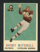 1959 Topps #140 Bobby Mitchell EX/EX+ RC Rookie Browns 70898