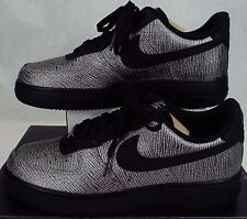 New Womens 10.5 NIKE Air Force 1 07 PRM Silver Black Shoes $110 616725-003