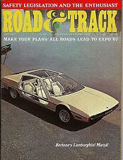 Road & Track Magazine July 1967 Lamborghini Marzal Alfa Romeo GTV Peugeot 404