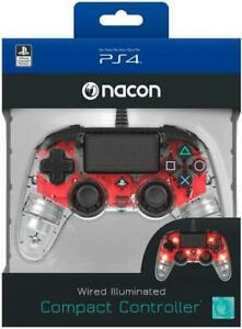 NACON CONTROLLER WIRED ILLUMINATED COMPACT CONTROLLER PS4/PC PLAYSTATION RED