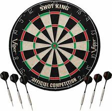 Viper 42-6002 Shot King 18 Inch Bristle Sisal Fiber Dart Board with 6 Darts