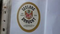 OLD AUSTRALIAN BEER LABEL, GEELONG BREWERY 1990s DRAUGHT