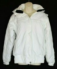 Millennium Three Sz L Large Junior's White Hooded Winter Coat Snow Ski Jacket M3