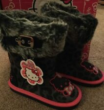 NEW £29.99 Hello Kitty Girls Boots Size 10 New With Box
