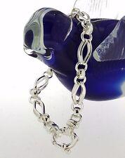 NEW Genuine Solid 925 Sterling Silver Gate Bracelet!