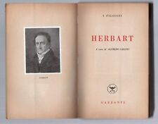 herbart - a cura di alfredo saloni - prima edizione garzanti 1948