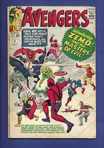 Avengers #6 1964 1st full app. Baron Zemo 1st app. second Black Knight KIRBY LEE
