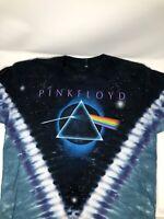 Vintage Rare Pink Floyd Liquid Blue Tee Black Size L Mens Tie Dye Band T-shirt