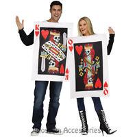 CA66 Dark King & Queen of Hearts Games Couple Halloween Las Vegas Casino Costume