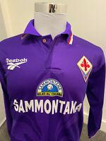 Fiorentina 1995-96 Batistuta Reebok Vintage Jersey Maglia Soccer Football Large