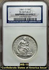 1861-O LIBERTY SEATED SILVER HALF DOLLAR **CSA** (WB-104) DIE PAIR 15