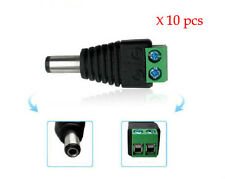 10pcs DC 5.5 x 2.1mm Power Male Jack Adapter Plug Cable Connector for CCTV LED