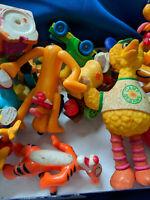 Large Lot Toys VTG Sesame St Muppets Disney Peanuts Snoopy Big Bird Goofy Bert