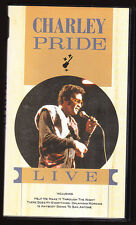 CHARLEY PRIDE LIVE - 22 SONGS - VHS PAL (UK) VIDEO - RARE