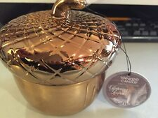 Yankee candle Limited Edition Acorn Glistening 🍁 Leaves ceramic