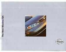 Nissan Maxima QX 2000-01 UK Market Sales Brochure 2.0 3.0 V6 SE SE+
