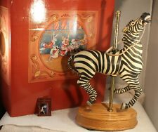 "1987 American Carousel Collection Musical Zebra 14"" Tall Signed 608/9500"