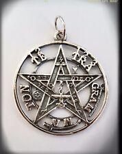 Tetragrammaton Pentagram pagan wicca Pendant eliphas levi 925 Sterling Silver
