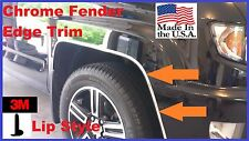 "5/8''  ""Lip Style"" WHEEL WELL Fender Edge TRIM (USA Made!) 3M! 20' CHROME KIT"