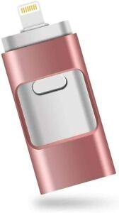 USB Flash Drive,Fengz 3.0 Flash Drive 32GB,3 in 1 memory stick GOLD