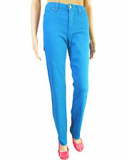 VERSACE Womens New Vtg 90s Classic High Waist Sexy Blue Pants Jeans sz 12 M AT43