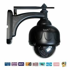 Easyn Outdoor PTZ Wireless Wifi IP Camera 65ft IR Wide Audio Zoom Security Set