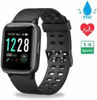 Smartwatch ID205 OLED Bluetooth Pulsuhr Fitness Smartband Sport Tracker IP68 iOS
