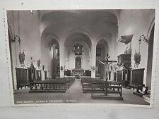 Vecchia cartolina foto d epoca di Montagnana Chiesa San Francesco interno croce