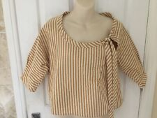 Marni Beautiful Striped Cotton Seersucker Top Sz 44 10/12 Unworn