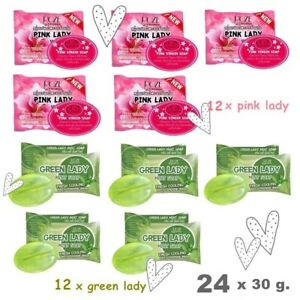 24 x Pink & Green Lady Secret Soap Solve Problem Bad Smelly Vagina Reduce Odor