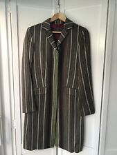 Etro Ladies Brown Khaki Stripe Coat. Size 42 IT 10 UK