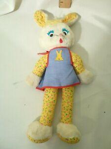 Knickerbocker Plush Kuddles Bunny Apron Joy of a Toy 18 Inch bendable ears