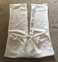 NWT Women's Silhouettes Ivory Drawstring Elastic Waist Pants