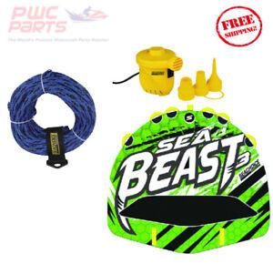 SEACHOICE Mer Serpent 3 Rider Pont Remorquable Tube Kit Avec / Corde & 12V Pompe