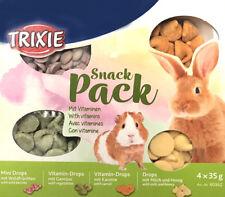 Rabbit Guinea Pig Hamster Treats SNACK PACK 4 Flavours Honey Berry Carrot Veg