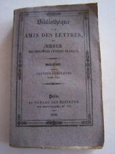 LIVRE ANCIEN POUR COLLECTION , BIBLIOTHEQUE DES AMIS DES LETTRES , MOLIERE .1829